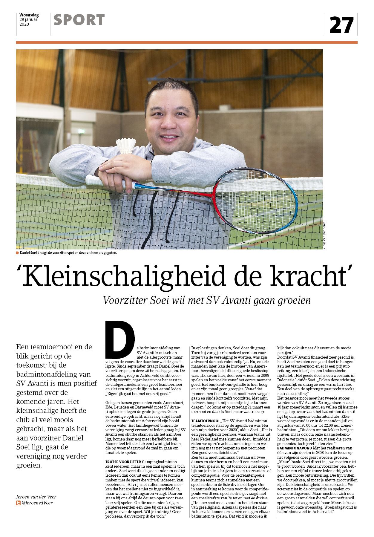 Interview Leusderkrant - Januari 2020